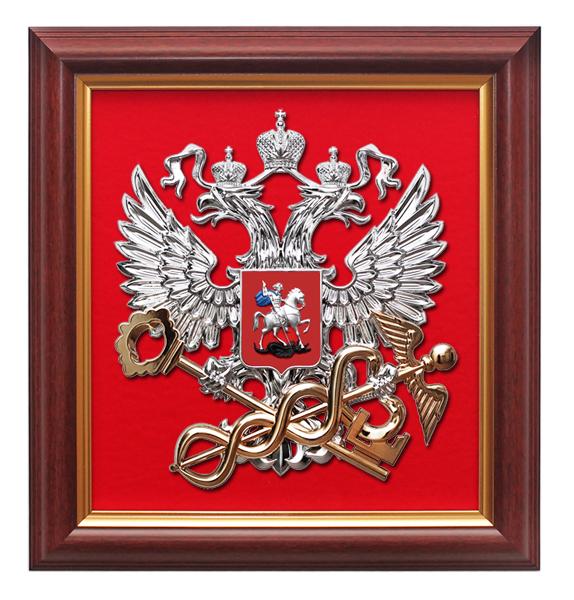 77Герб россии из дерева
